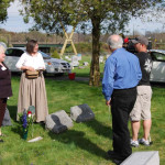 4-25-09 Barbara Kathleen Cathy Nick Tom at grave