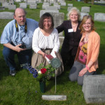 4-25-09 John Cathy Barbara Kathleen at grave