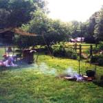 Hessian campfire