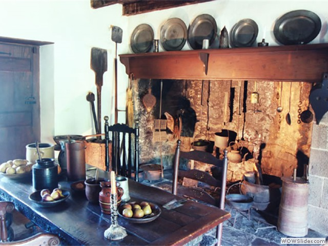 17th century Pidcock Cabin Hearth