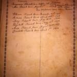 Benj Pidcock Bible family-record
