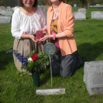 4-25-09 Cathy Kathleen Bible at grave