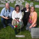 4-25-09 John Cathy Barbara Kathleen at grave
